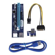 PCI-E Express Riser Card Adapter 1x~16x USB 3.0 Mining Extender Board Cable Lot