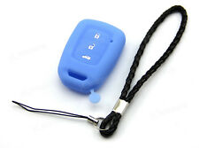 Blue Silicone Case Cover For Honda Fit Vezel XRV Odyssey Remote Key 3 4 Buttons
