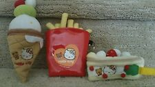 Hello Kitty plush french fry, cake, ice cream cone zipper coin purse/wristlets