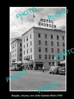 OLD 8x6 HISTORIC PHOTO OF DOUGLAS ARIZONA VIEW OF THE GADSDEN HOTEL c1950