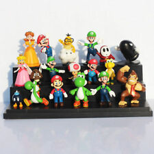 Super Mario Brothers Bros 18 PCS Action Figure Doll Toys Kids Gifts Cake Topper