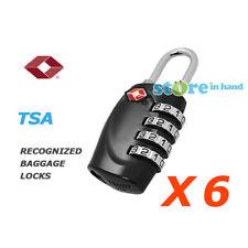 6x TSA 4 Digit Combination Travel Luggage Padlock Suitcase Lock