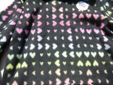 NWT Jumping Beans Girls Heart Hooded Fleece sz 6X colorful hearts