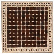 Marocain Table en Mosaïque Carré Mosaïque Bistrotisch Braun / Beige 60X60cm