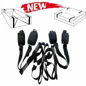 Under Bed Restraints System Bondage Strap Rope Cuffs Adult Kit Kinky Set UK