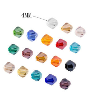 4MM Crystal Beads 18 Colors For Bracelet DIY Jewelry Making 100Pcs/pack