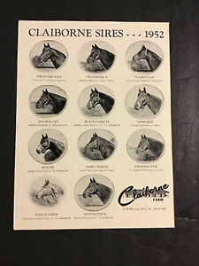 NASRULLAH  PRINCEQUILLO 1952 STUD AD 10 X 13 Horse Racing Secretariat Bold Ruler