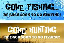 Gone Fishing Gone Hunting Funny Decal