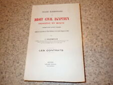 1920.Traité élémentaire droit civil egyptien.Egypte.Contrats.Grandmoulin