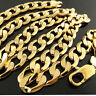Necklace Chain 18k Yellow G/F Gold Solid Mens Heavy Curb Cuban Bling Link 30""