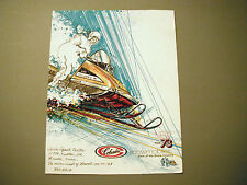 1973 Vintage Columbia Snowmobile Brochure