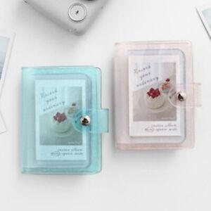 Color Photo Album for Mini Card Photo Album Transparent Glitter Card Holde.