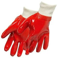 Silverline - Red Pvc Gloves (one Size - Large Heavy Duty 447137 General Use