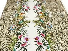 Viskose Jersey Stoff Kleiderstoff Digitaldruck Elastisch Strandkleid Blumen E38