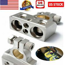 US Car Battery Terminal Clamp Post 1/0 2 4 8 GA AWG Gauge Positive Negative Port