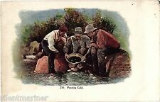Panning for Gold, Denver, Colorado, old coloured postcard, unposted