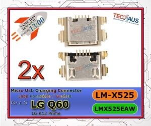 usb lade konnektor für LG q60 / LM-X525 ladebuchse charging port connector 2x