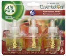 Air Wick Scented Oil Air Freshener, Apple Cinnamon Medley ,Triple Refills 3ea
