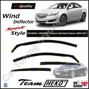 VAUXHALL INSIGNIA 4/5-door Hatchback liftback 2009-2017 4pc Wind Deflectors HEKO
