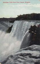 American Falls from Goat Island NIAGARA FALLS NY USA 1903-15 Valentine Postcard