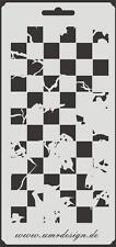 Scrapbooking Schablone S-030  Schach Vintage ~ Stencil ~ UMR-Design
