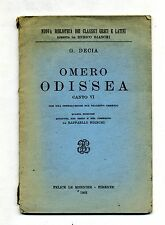 G.Decia # OMERO-ODISSEA-CANTO VI # Felice Le Monnier 1952