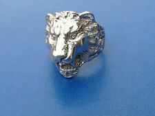 ANELLO con TESTA di LEONE ARGENTO 925 MILLESIMI lions ring sterling silver