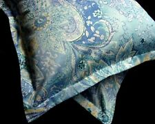 16x16 2 Toss Pillow Cover Sham w New Ralph Lauren JAMAICA BLUE PAISLEY Fabric
