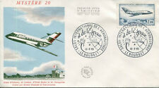 FRANCE FDC - 543A A 20 1 AVION MYSTERE 20 LE BOURGET - 12 Juin 1965 - LUXE