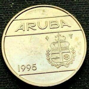 Aruba 1995 10 Cents Coin UNC  Nickel Bonded Steel  #K226