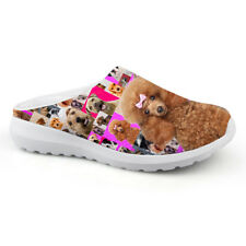 Pug Womens Flat Slippers Mesh House Sandals Casual Dog Shoes Indoor Lightweight