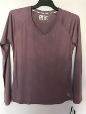 RBX  Active wear Athletic Gym  Long Sleeve V Neck Top Shirt Lilac   NWT