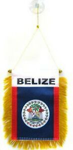 Belize Flag Hanging Car Pennant for Car Window or Rearview Mirror