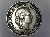 1926-B Switzerland 10-Rappen Circulated Coin - Confoederatio Helvetica