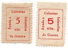 Sello Local Guerra Civil Murcia -Cat. Guillamon 955 y 956.  ORD:834