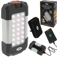NGT FLOODLIGHT & POWER BANK SYSTEM SUPER BRIGHT UP TO 500 LUMENS CHARGE PHONE