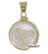 1/10 oz 2014 Silver Koala Coin Bezel Gold Filled Coin Edge Pendant