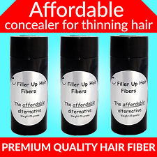 AUBURN 3- 25 GRAM BOTTLES Filler Up Hair  Fibers LOW COST SUBSTITUTE USA SELLER