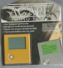 agape audio bible KJV Audio Bible, comes with earbuds, screen for viewing verse