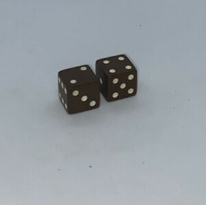 Backgammon Game Replacement Brown & Ivory Dice