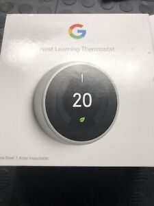 Google Nest Wi-Fi Smart Learning Thermostat 3rd Generation Steel T3007EF