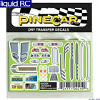 Pinecar 4014 Dry Transfer Decals Racer Accents