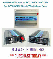 600W Grid Tie Inverter DC22V-60V to AC230V 24V/30V/36V 60/72cells Solar Panel