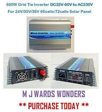 600W grille cravate inverseur dc22v-60v to AC230V 24V/30V/36V 60/72cells