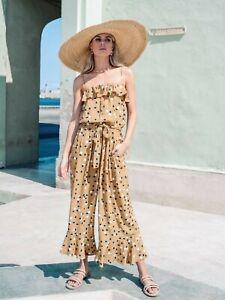 Kivari Dakota Polka Dot Jumpsuit - Size L - NEW