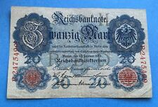 More details for 1914 20 marks reichsbanknote note