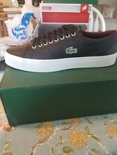 Lacoste Marcel LCR Mens Black Leather Lace Up Sneakers Shoes 10