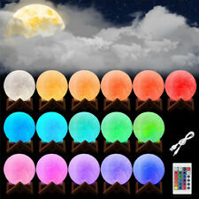 Rechargeable LED Night Light Moon Lamp 3D Printing Moonlight Luna Remote Control