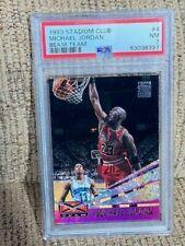 1993 Stadium Club Michael Jordan Beam Team PSA 7 #4 bulls card NEW CASE