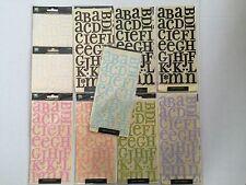 Lot 10 Pkgs New Alphabet Letter Velvet Stickers Making Memories Simply Fabulous
